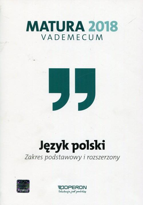 matura 2020 vademecum język polski zakres podstawowy i rozszerzony