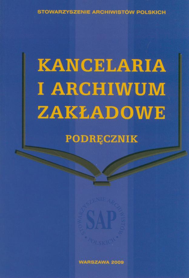 kancelaria i archiwum zakładowe podręcznik