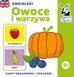 Opracowanie zbiorowe - Kapitan Nauka. Angielski. Owoce i warzywa (karty obrazkowe + poradnik)