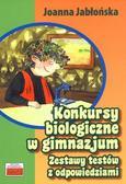 Joanna Jabłońska - Konkursy biologiczne w gimnazjum