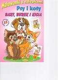 praca zbiorowa - Malowanki z nalepkami. Psy i koty. Bary, Burek i K
