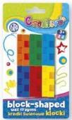 Kredki świecowe - klocki 6 kolorów ASTRA