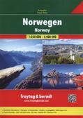 Norwegia atlas samochodowy, 1:250 000 / 1:400 000