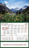 Kalendarz 2019 jednodzielny Alpy. 1256 Alpy