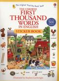 Amery Heather - First Thousand Words in English Sticker Book