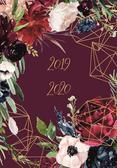 Kalendarz 18 miesięczny DI4 - Kwiaty bordo