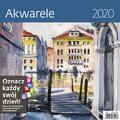 Kalendarz wieloplanszowy Akwarele 30x30 2020