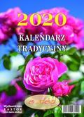 Kalendarz tradycyjny z różą 2020. duży zdzierak formatu A5
