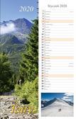 Kalendarz 2020 Tatry 13 planszowy 15x48 RADWAN