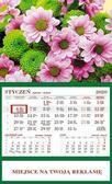 Kalendarz 2020 Ścienny Jednodzielny Kwiaty