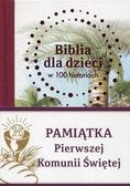 praca zbiorowa - Biblia dla dzieci w 100 historiach (komunia)