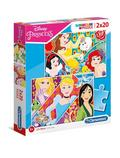 Puzzle 2x20 Supercolor Disney Princess