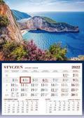 Kalendarz 2022 Ścienny Jednodzieny Grecja
