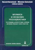Borowiecki Ryszard, Kwieciński Mirosław (red.) - Informacja w zarządzaniu przedsiębiorstwem