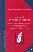 Wąsek - Wiaderek Małgorzata - Zasada równości stron