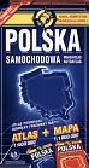 Polska - atlas drogowy + mapa
