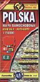Polska 1:750 000 mapa samochodowa