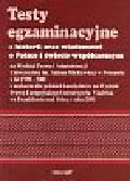 Testy egzaminacyjne z historii oraz wiadomości o Polsce i świecie współczesnym