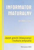 Informator maturalny język grecki 2005