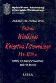 Zakrzewski Andrzej - Sejmiki Wlk.Księstwa Litew. 059/01