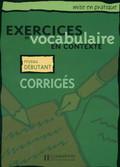 Exercises vocabulaire Odpowiedzi początkujący
