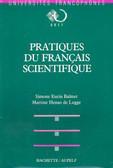Pratique du francais scientifique