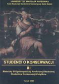 Korzeniowski Tomasz (red.) - Studenci III o konserwacji