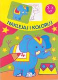 Słoń Naklejaj i pokoloruj