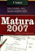 Chemia Matura 2007 oryginalne arkusze maturalne