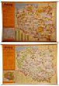Polska Skarby kultury Skarby przyrody Mapa ścienna