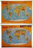 Świat Krajobrazy Ukształtowanie powierzchni Mapa ścienna