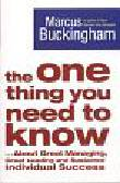 Buckingham Marcus - The one thing you need to know