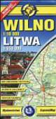 Wilno mapa samochodowo turystyczna 1:10 000 Litwa 1:650 000