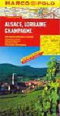 Opracowanie zbiorowe - Francja cz. 3  Alzacja, Lotaryngia 1:300 000 - mapa Marco Polo