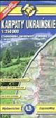 Karpaty Ukraińskie mapa turystyczna 1:250 000. Czarnohora Świdowiec Gorgany