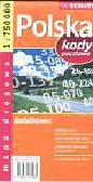 Polska 1:750 000 kody pocztowe mapa drogowa
