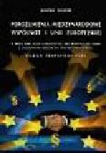 Jarosław Sozański - Porozumienia międzynarodowe Wspólnot i Unii Europejskiej w świetle norm acquis commununitaire oraz Konstytucji dla Europy z uwzględnieniem orzecznictwa Trybunału Sprawiedliwości