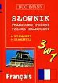 Słownik 3 w 1 francusko-polski polsko-francuski