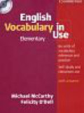 McCarthy Michael, O'Dell Felicity - English Vocabulary in Use Elementary + CD