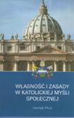 Piluś Henryk - Własności i zasady w katolickiej myśli społecznej