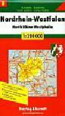 Nordrhein-Westfalen North Rhine-Westphalia road map
