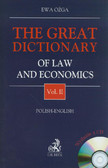 Ożga Ewa - The great dictionary of law and economic vol.2 with CD