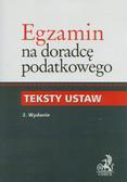 Egzamin na doradcę podatkowego Teksty ustaw