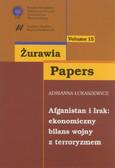 Łukaszewicz Adrianna - Afganistan i Irak: ekonomiczny bilans wojny z terroryzmem