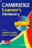 Cambridge Learner`s Dictionary Słownik angielsko polski polsko angielski + CD