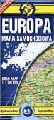 Europa laminowana mapa samochodowa  1:4 000 000
