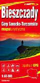 Bieszczady Góry Sanocko-Turczańskie. Mapa turystyczna 1:65 000