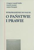 Seidler Grzegorz Leopold, Groszyk Henryk, Pieniążek Antoni - Wprowadzenie do nauki o państwie i prawie