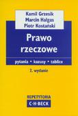 Grzesik Kamil, Hałgas Marcin, Kostański Piotr - Prawo rzeczowe