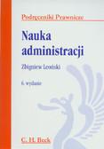 Leoński Zbigniew - Nauka administracji